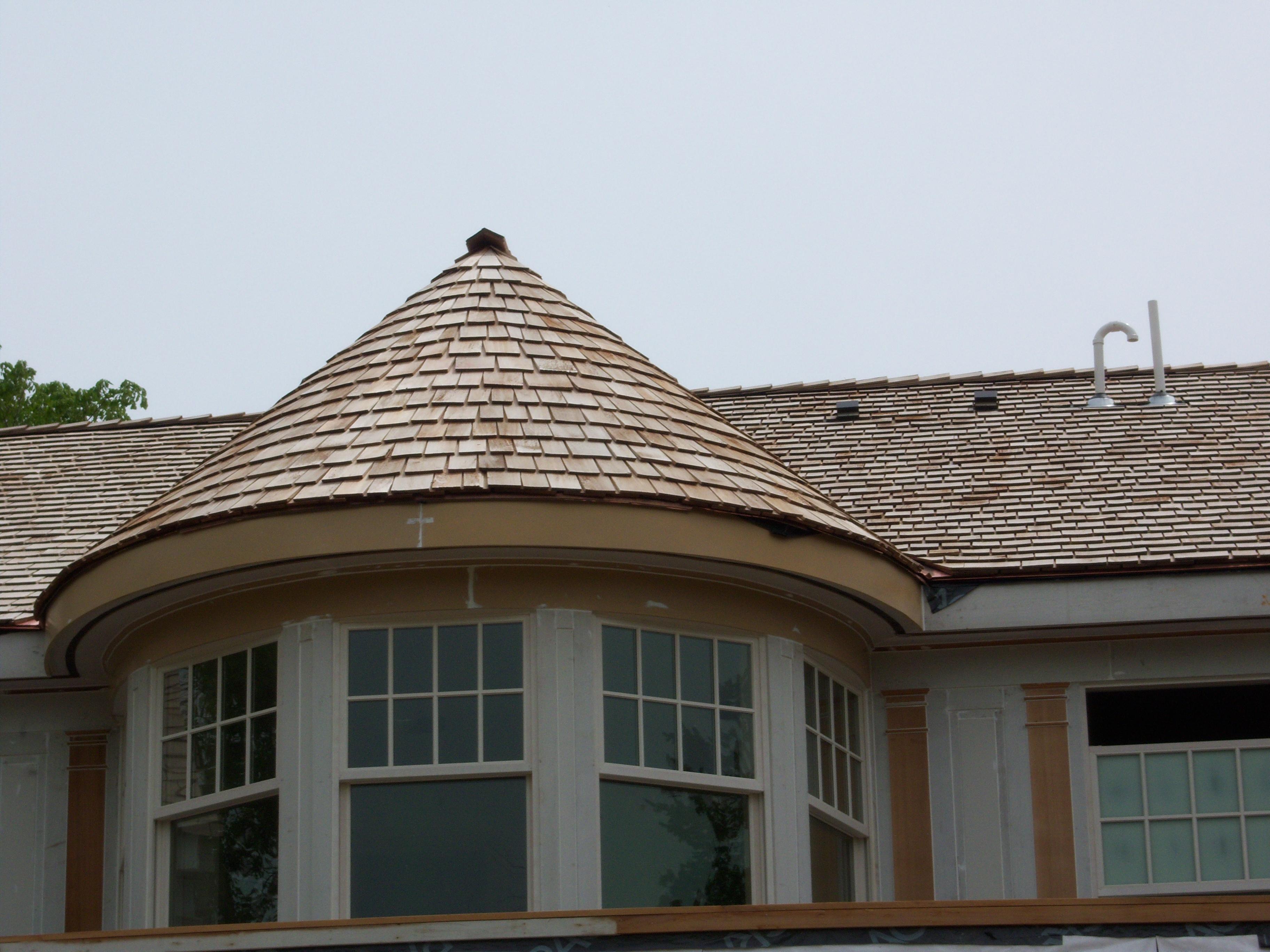 Cedar Roof in Progress