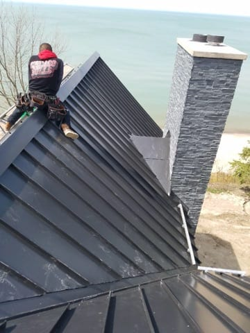 Standing Seam Panels Matte Black