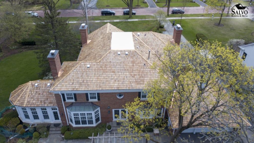 Aerial image cedar roof