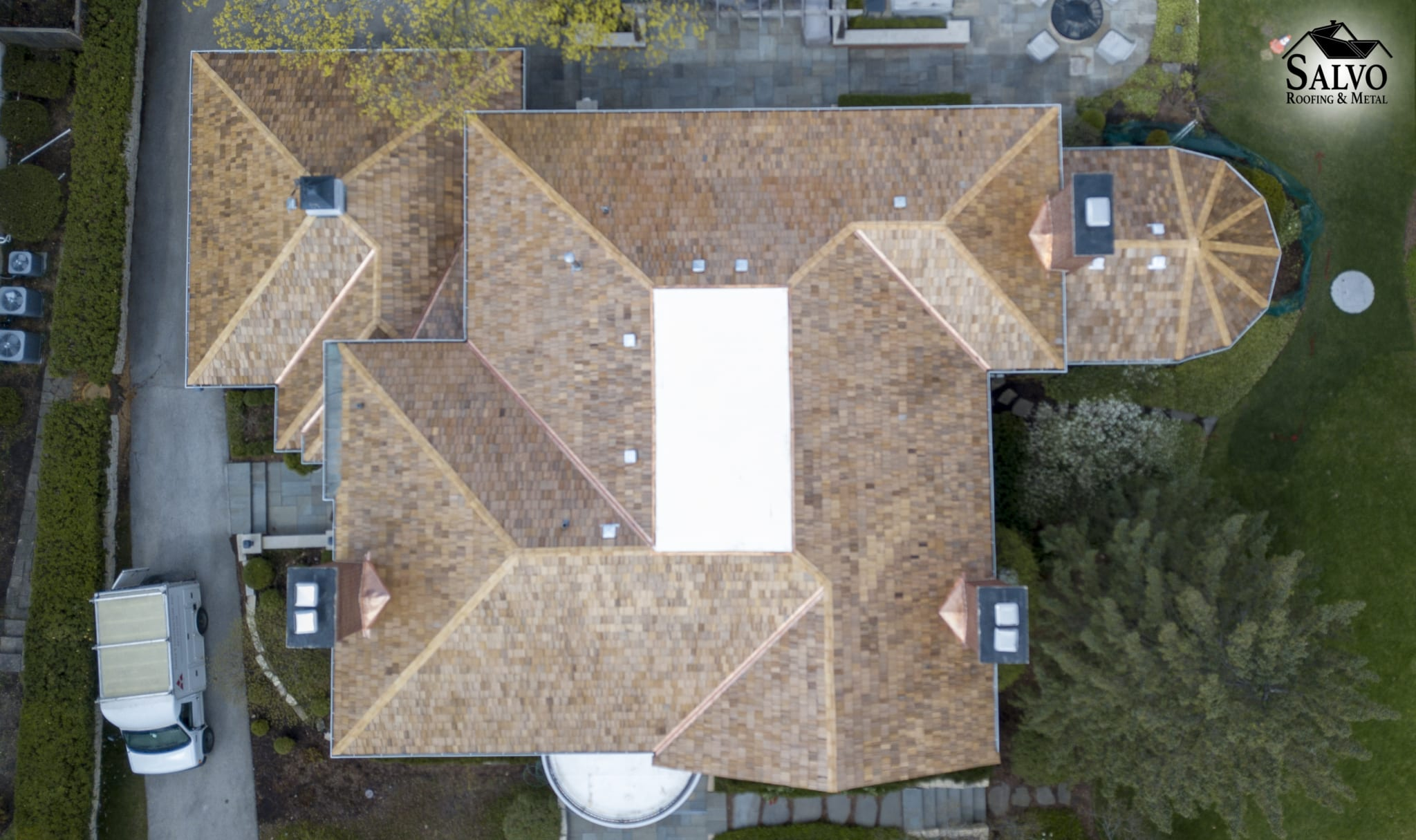 Cedar Roof Image from Drone