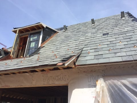 Slate Roof Install with Pad Style Snow Guards