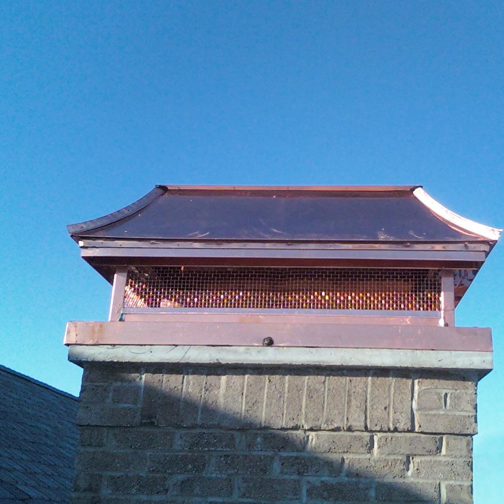 Copper Chimney Shroud