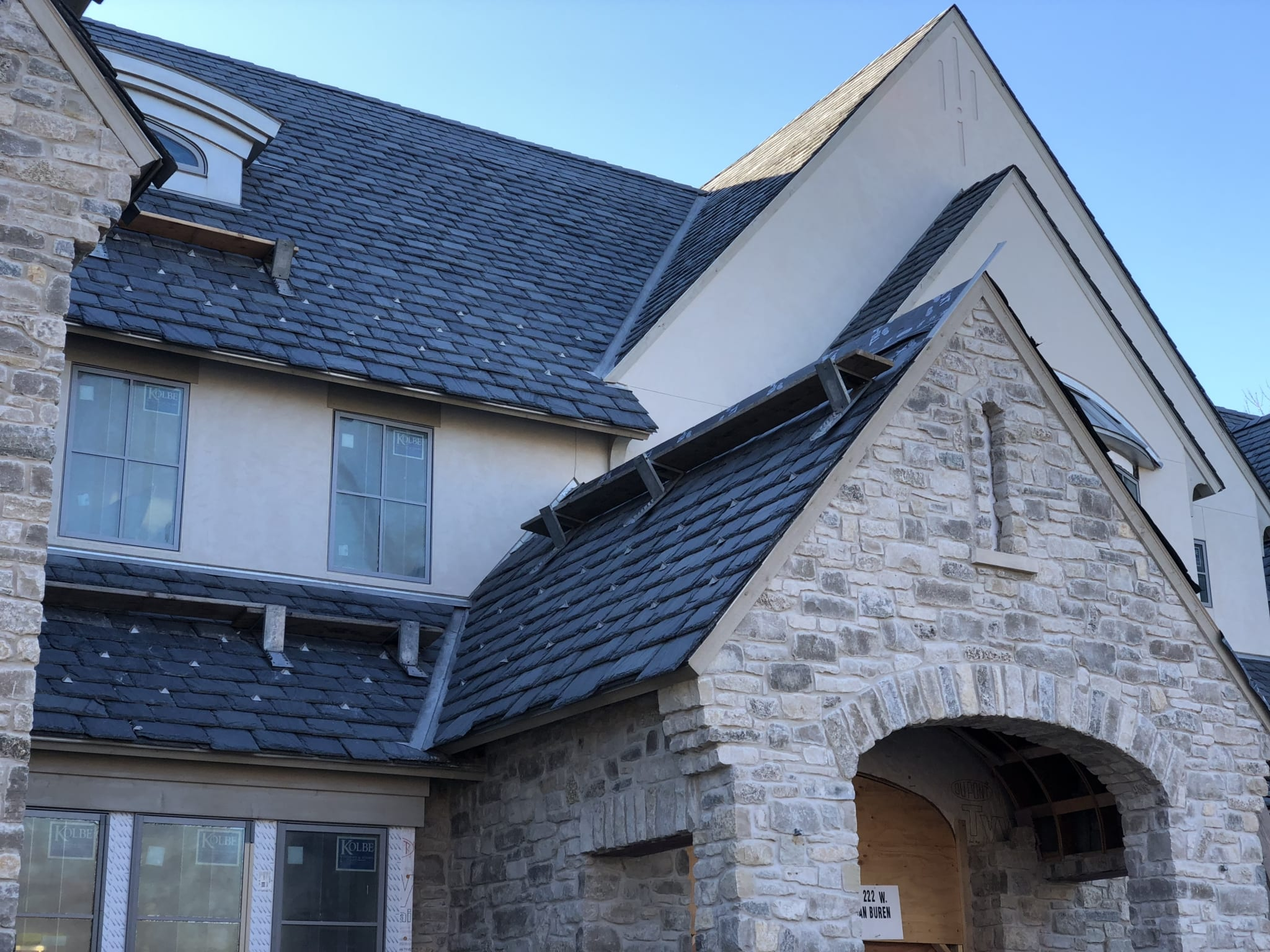 Graduated Slate Roof, Naperville Illinois