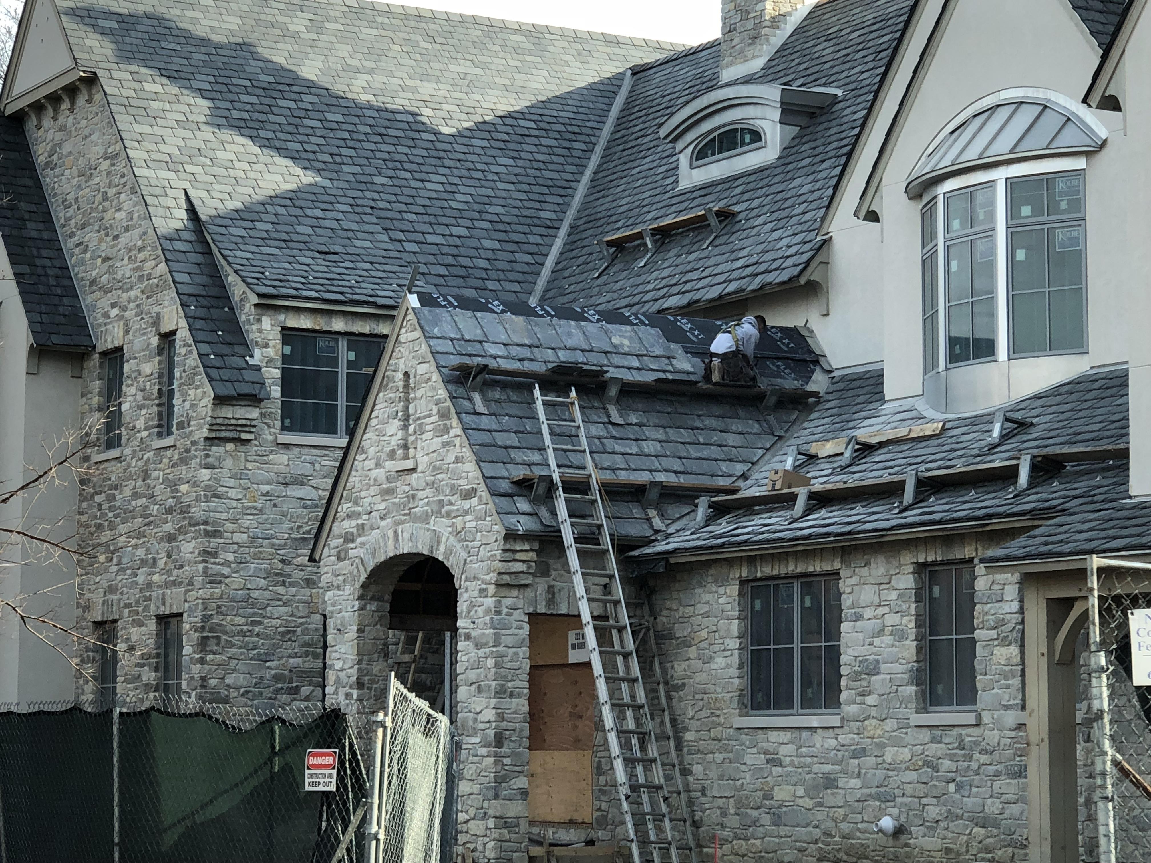 Graduated Slate Roof
