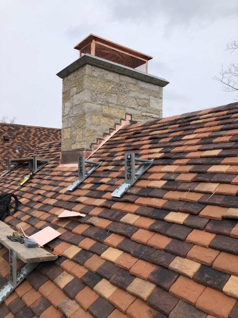 Tile Shingles with Copper Shroud