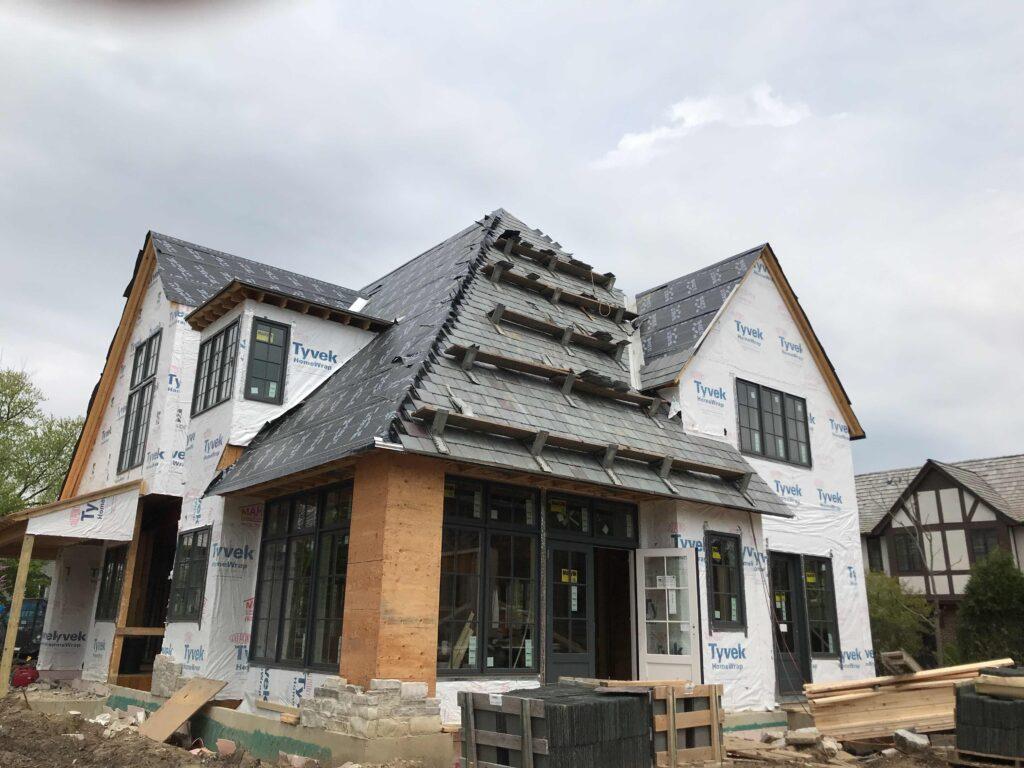 In Progress Hybrid Slate Roof